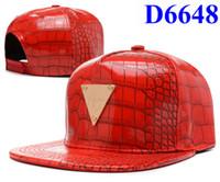 Wholesale Hot Leather Hats red Hater Snapbacks Fashion Men Snapback caps Sports hats Snapback Cap Adjustable hater Strap backs Mix Order