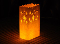 9CM*15CM*26CM candles and candle holders - white fireworks Candle Bags fireproof paper Luminarie Lantern Wedding Party decorations candle bags