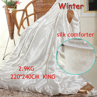 Wholesale 3 kg cm king queen size comforter for winter Mulberry silk duvet quilt blanket adults double bed sofa Luxury home textile
