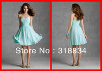 Reference Images Sleeveless Sweetheart 2014 Lime Green Ruffled Chiffon Bridesmaid Dresses Sweetheart Off The Shoulder Zipper Back Closure A-Line Party Dress Gown 2014