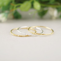 Band Rings Fashion Rings  Women's free shipping wholesale three color Urban Gold Stack Plain Cute Above Knuckle Ring Band MIDI Ring