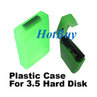 Wholesale For SATA IDE HDD Disk Drive Storage Case Green Plastic Inch PVC Case Hot New
