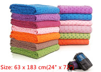 Wholesale With Mesh bag AAA Health Care Skidless Yoga Towel Yoga Mat Non slip Yoga Mats for Fitness Yoga Blanket