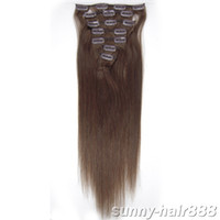 "5sets 20"" 7pcs remy set Clip- in hair Human Hair Extensi..."