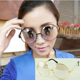 Recién Llegado De 2014 Diseñador de Moda Hombres, Mujeres de gran tamaño Ronda Marco Claro Objetivo Unisex Clásico de l Llanura Espejo Gafas de Gafas de sol desde espejo de cristal clásico fabricantes