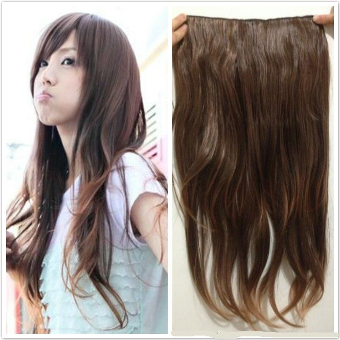 Womens fashion clip in hair extensions synthetic clips hair womens fashion clip in hair extensions synthetic clips hair pieces for full head four colors hair extension clip in hair extension clips hair online with pmusecretfo Images