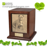 Wholesale lovely wood pet Cremation urns Keepsake Memory Box