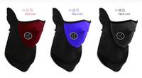 Wholesale neoprene full face bikers mask ski bike skull new black