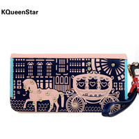 Wallets Men PP KQueenStar2014 original Korean version of the new cute little wagon puppet rivets Ms. wallet wallet long section