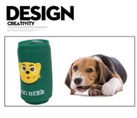 beer for dogs - Pet dog beer bottle chew sound rubber toys Eco friendly for Dog toy cans design