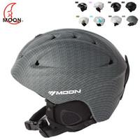 Wholesale New Fashion MOON brand Ski helmet Ultralight and Integrally molded professional Snowboard helmet Unisex multicolor Skateboard helmet MS86