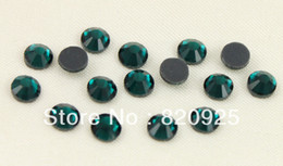 Wholesale 1440 SS20 Emerald Facet Crystal Iron on Hotfix Rhinestone Diamante gross DMC