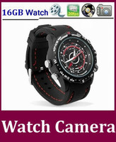 Wholesale hidden camera Built in GB Memory Mini DV Waterproof watch Spy camera HD VGA fps Free DHL