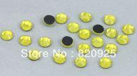 Wholesale 1440 SS16 Citrine Yellow Facet Crystal Iron on Hotfix Rhinestone gross DMC