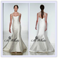 Trumpet/Mermaid Reference Images Halter WOW! Hot Sexy Elegant Mermaid Halter Floor Length Sweep Train Satin 2014 Wedding Gowns Woman Prom Dresses Applique Beading Bridal Gowns