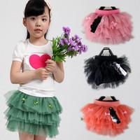 Summer layer cake - Girls Skirt Multi layer cake skirt with bow bowknot veil skirt baby Tutu skirt