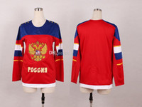 Ice Hockey Men Full Ladys' Red Blank 2014 Sochi Olympic Russian National Team Premier Hockey Jersey Man Ice Hockey Jersey Stitched Authentic HighQuality NWT HOT
