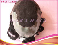 Wholesale Queen Indian Human Hair Man Wig High Quality In Stock Hot Sale Black