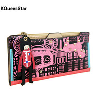 Wallets Men PP KQueenStar2014 original Korean version of the new small wagon puppet Ms. Liu nail long paragraph wallet card wallet