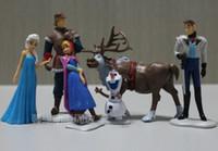 Wholesale Retail new Frozen Piece PVC action Figure Play Set Anna Elsa Hans Kristoff Sven amp Olaf kid s gift toy