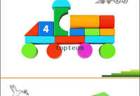 Wholesale Baby Educational Letter Digital Blocks Child Wooden Large Building Blocks Barrel Package Kids Wooden Toy