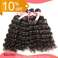 Brazilian Peruvian Malaysian Indian Hair Weft Weave 100% Unp...