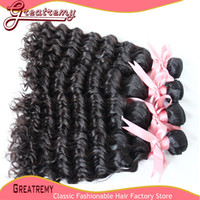 5A Brazilian Virgin Unprocessed Hair Deep Wave Hair Weft Wea...