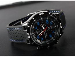 Nueva llegada para hombre BLACK BIG DIAL reloj para hombre Deportes reloj de cuarzo Japón Movt envío gratis