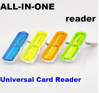 Wholesale Universal Card Reader for MICRO SD MS TF M2 SDHC SUUPORT Multifunction All In One Creative Spaceship Card Reader Free DHL FEDEX