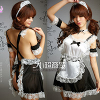 Wholesale Maid Servant sexy Costume Cosplay Sexy Nerse Uniform Hot Sexy Lingerie Fishnet sexy Costumes Sexy underwear Sexy Stockings