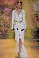 Cheap Reference Images 2014 zuhair murad Best V-Neck Satin 2014 evening dresses