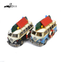 Wholesale Vintage Metal Handmade Craft Luxury Sightseeing Bus Mold Household Decoration Gift e