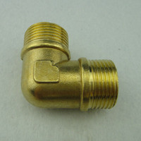 Cheap Copper connector 6 double outside the wire copper elbow 6 copper elbow male elbow water pipe connector
