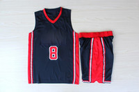 Wholesale 1992 Scottie Pippen Olympic Dream Team Road Jersey Navy Blue Revolution Embroidered USA Basketball Jerseys Suit Champion Uniform Sets