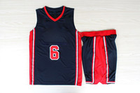 Wholesale Dream Team Patrick Ewing Olympic USA Basketball Jerseys with Shorts Navy Blue Revolution Full Uniform Men s Sport Shirt Suit