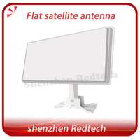 Wholesale Newest satellite dish original Flat Satellite Antenna in wall or balcony with patent certificate by fedEX IP