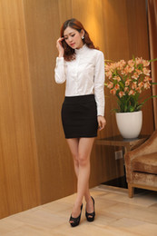 Hot sell spring summer autumn Korean style ladies skinny Lace blouse Of white blouses casual Cotton blouse