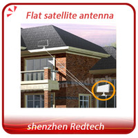 Wholesale 2pcs Patent certificate flat satellite antenna with integrated LNB Azfox Dual Linear Polarization Worldwide Used newest satellite dish fedex
