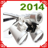 Wholesale 2014 Brand New Dentist Dental Surgical Medical Binocular Loupes X mm Optical Glass Loupe Silver RDL