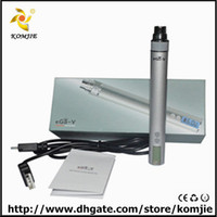 Wholesale cigarette electronic MAH Ego VV vw V3 megausb passthrough battery kit LCD screen show voltage and wattage printed circuit board mah