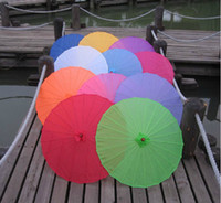 Silk wood craft - Bridal s wedding parasol assorted colors Chinese craft umbrellas