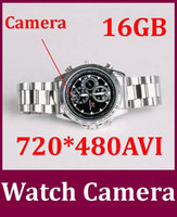 16G   720*480AVI 16GB Mini DVR Waterproof Camcorder Watch Video Recorder Hidden Spy Watch Camera DVR 30pcs lot Free DHL
