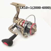 Saltwater Spinning Reel 1 box 40 Professional production of fishing reels -11 axis LK2000 - 6000 metal head spinning wheels round sea fishing rod wholesale