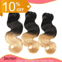 "10% OFF! Omber Hair Peruvian 14"" - 30"" Human Hair We..."