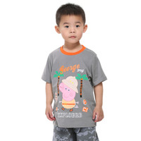 Boy Summer Standard New 2014 Wholesale Brand Nova Cute Baby Boy Peppa Pig Cartoon Printing Boys T shirt Cotton Short Sleeves Kids Clothes C4666