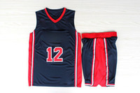 Wholesale Team USA John Stockton Embroidered Basketball Jerseys Olympic Dream Team One Navy Revolution Jersey with Shorts Full Uniform