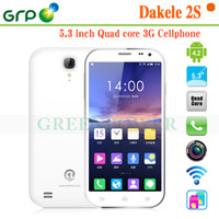 Wholesale DAKELE S mobile phone MTk6589T Android4 Quad Core GB RAM GB ROM inch P screen GSM CDMA MP MP WIFI GPS OTG
