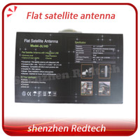 Wholesale 5pcs Flat Satellite Antenna with certificate Dual Linear Polarization worldwide used newest satellite dish fedEX IP
