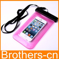 Wholesale Waterproof Case Pouch Swim Diving Bag case Floating Pouch skin outdoor Cover for iPhone G S s Samsung Galaxy S4 S3