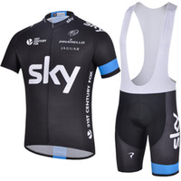 Wholesale Team Sky Cycling Jersey Sets Bib Shorts and Shirts Streamlined Lightweight Durable Unfailingly High Stretch Fabric Polyester Bicycle Jerseys
